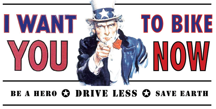 Uncle Sam Wants You - To Bike Now!